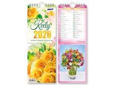 Kalendář 2020 pohlednicový Květy
