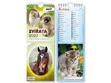 Kalendář 2020 pohlednicový Zvířata