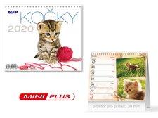 Kalendář 2020 stolní mini Kočky