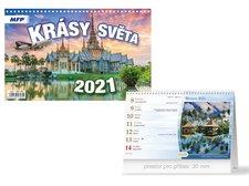 MFP Kalendář 2021 stolní Krásy světa