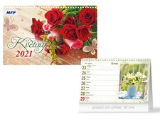 MFP Kalendář 2021 stolní Květiny