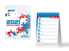 MFP Kalendář 2021 stolní Mikro