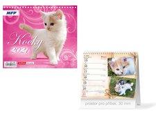 MFP Kalendář 2021 stolní mini Kočky