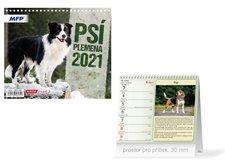 MFP Kalendář 2021 stolní mini Psí plemena