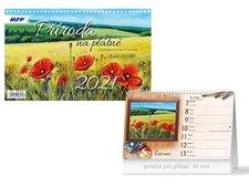 MFP Kalendář 2021 stolní Příroda na plátně
