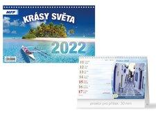 MFP Kalendář 2022 stolní Krásy světa