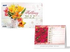 MFP Kalendář 2022 stolní Květiny