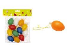 Vajíčka plast jednobar.4cm 12ks mix S32081