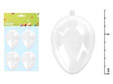 Vajíčko transparentní set 8x5,8cm/4ks
