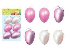 Vajíčka plast 6cm/6ks mix S180061F