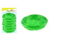 MFP Hnízdo sisal 7cm 6ks - zelené