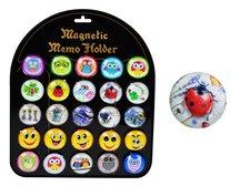 Magnet dekorační kulatý 3,5cm mix 1
