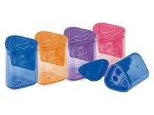 MFP Ořezávátko plastové dvojité se zásobníkem mix barev