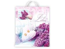 Igelitová taška MFP Květy fialové 40x46x8 (s uchem)