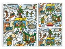 Balící papír vánoční klasik Lada 2 100x70