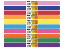 Krepový papír role 50x200cm mix barev 10ks duhový
