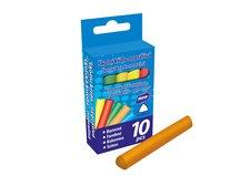 Křídy M bar.troj. 10 barev v krabičce neprášivá