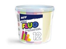 MFP Křídy M chodníkové fluo kulaté 12ks mix barev - kyblík