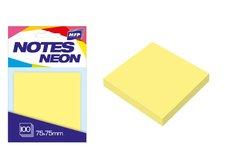 Bloček samolepící 75x75mm 100 listů žlutý neon
