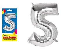 Balónek č. 5 nafukovací fóliový 40 cm