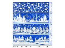 Fólie 467 vánoční krajinky pruh 41,5x12cm