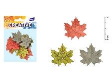 Dekorace list barevný javor 12ks 4cm mix