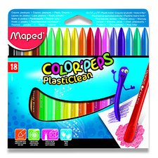 Plastové pastely Maped ColorPeps Plasticlean - 18 barev