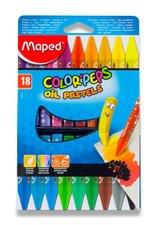 Olejové pastely Maped Color´Peps Oil Pastels - 18 barev