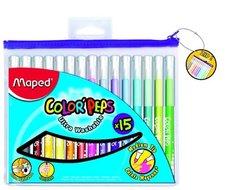 Dětské fixy MAPED Color´Peps, pouzdro na zip, 15 barev