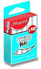 Křídy MAPED, 10 ks, bílé