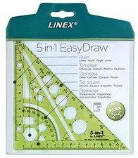 LINEX Multifunkční pravítko trojúhelník 5 v 1 - limetková