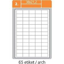 Print etikety 38,1 x 21,2 mm,bílé samolepící  100 listů