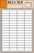 Print etikety 48,3 x 16,9 mm, bílé smolepící, 100 listů