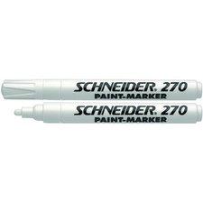 Schneider Paint Marker 270 - lakový popisovač, bílý