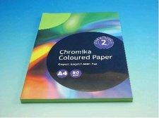 Kancelářský papír A4/100ks středně zelený 80g