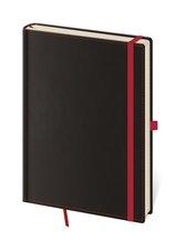 Zápisník BB434-1  Black Red - linkovaný M
