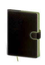 Zápisník BFL434-3  Flip B6 linkovaný - černo/zelená
