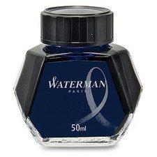 Lahvičkový inkoust WATERMAN modročerný, 50 ml