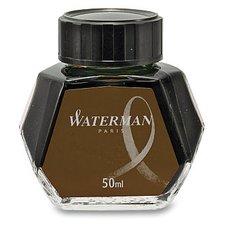 Lahvičkový inkoust WATERMAN hnědý, 50 ml
