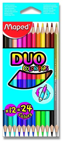 Oboustranné pastelky Maped Color Peps Duo