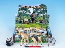 Zvířátka safari střední plast 7,5-15cm asst 6 druhů