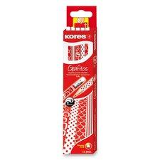 Tužka Kores Grafitos s pryží - tvrdost HB (číslo 2)