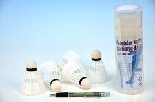 Míčky na badminton bílé plast 5ks v tubě