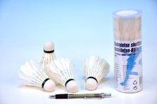 Míčky na badminton péřové 4ks v tubě