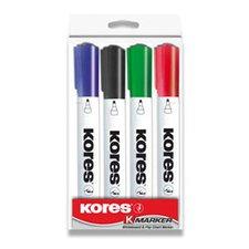 Popisovač na bílé tabule Kores Whiteboard - sada 4 barev