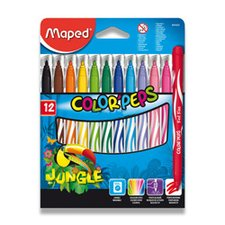 Dětské fixy Maped Color´Peps Jungle - 12 barev
