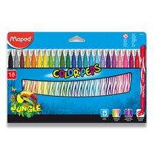 Dětské fixy Maped Color´Peps Jungle - 18 barev