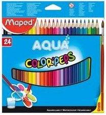 Pastelky Color Peps Aqua 24 ks + štětec