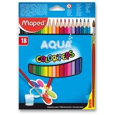 Pastelky Color Peps  Aqua18ks + štětec