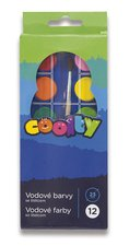 Vodové barvy Coolty - 12 barev, průměr 23 mm